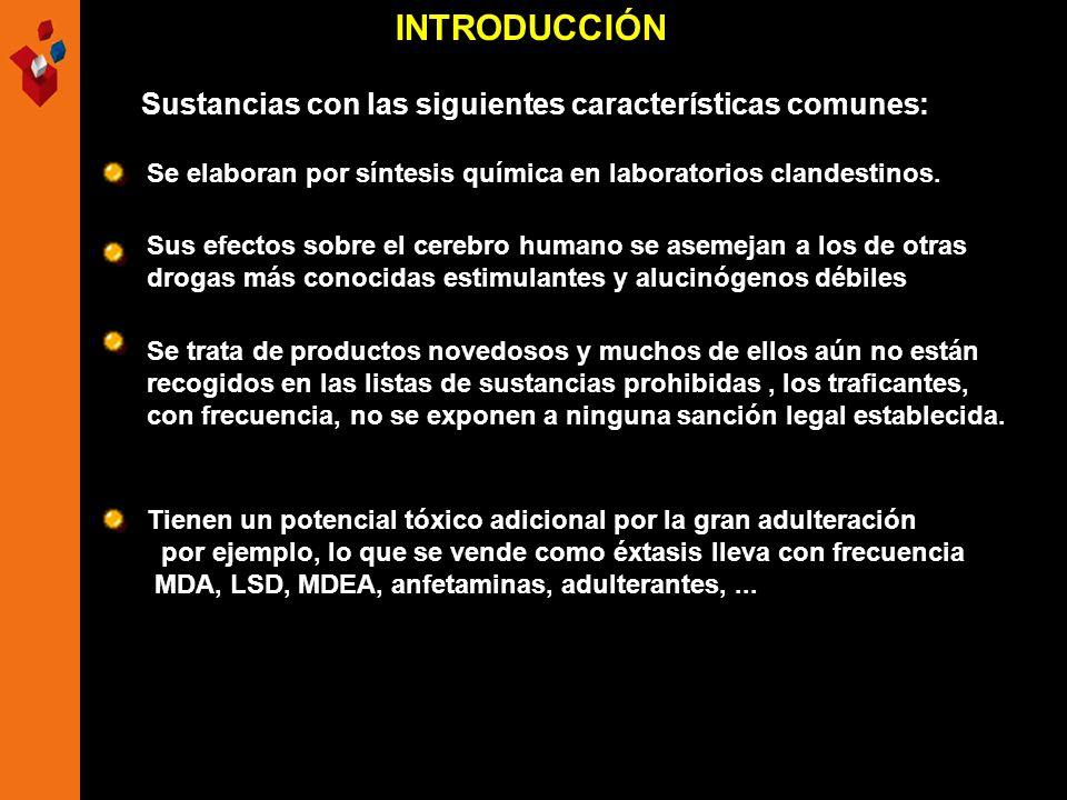 INTRODUCCIÓN Sustancias con las siguientes características comunes: Tienen un potencial tóxico adicional por la gran adulteración por ejemplo, lo que