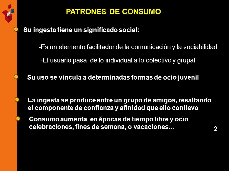 PATRONES DE CONSUMO -El usuario pasa de lo individual a lo colectivo y grupal -Es un elemento facilitador de la comunicación y la sociabilidad Su inge