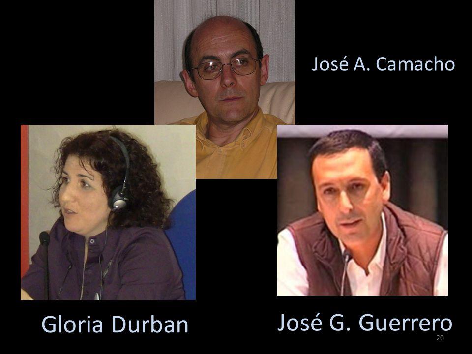 Gloria Durban José G. Guerrero José A. Camacho 20