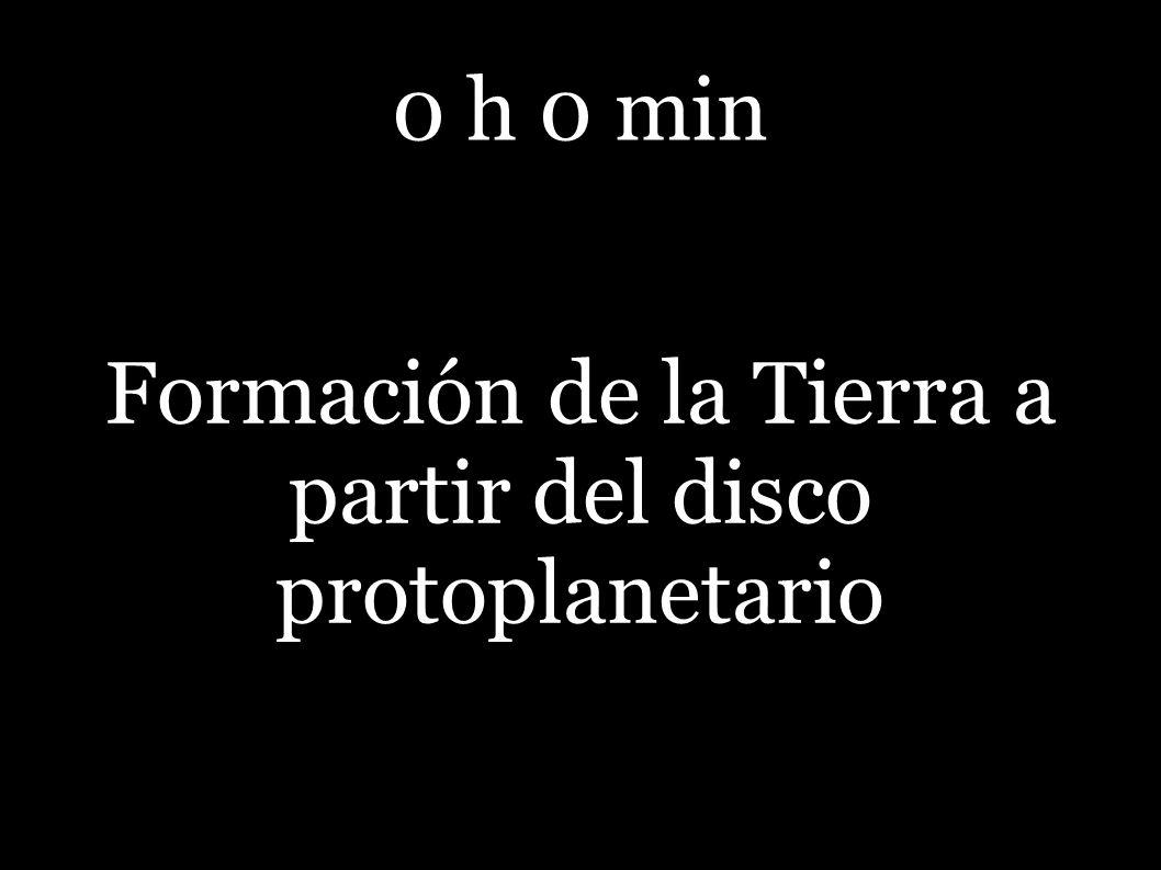 0 h 0 min Formación de la Tierra a partir del disco protoplanetario