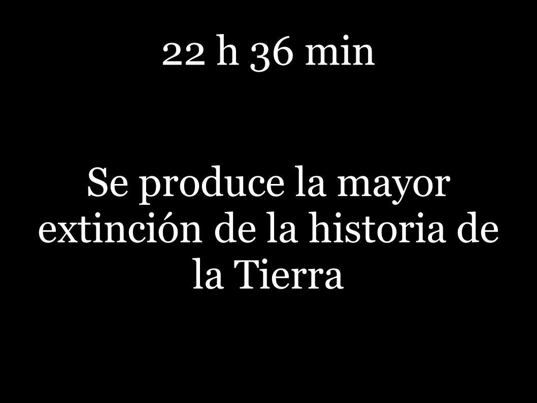 22 h 36 min Se produce la mayor extinción de la historia de la Tierra