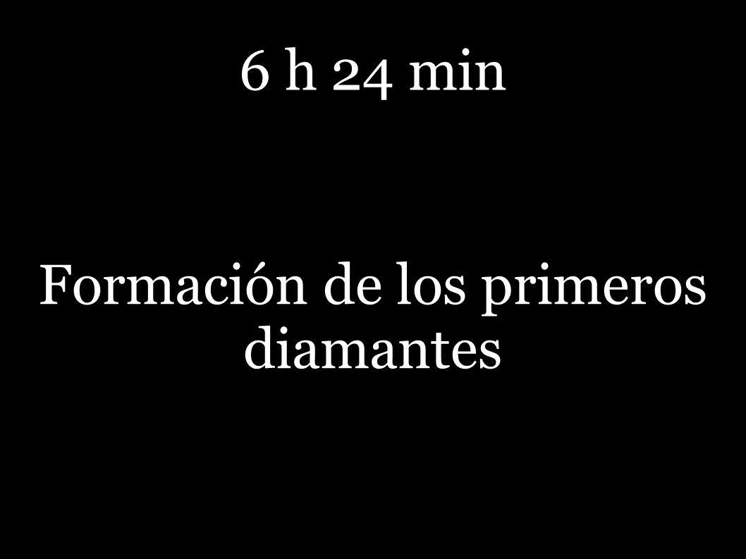6 h 24 min Formación de los primeros diamantes