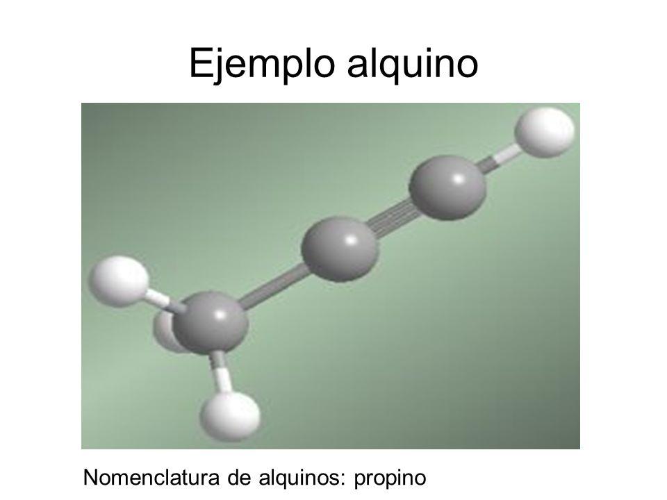 Ejemplo alquino Nomenclatura de alquinos: propino
