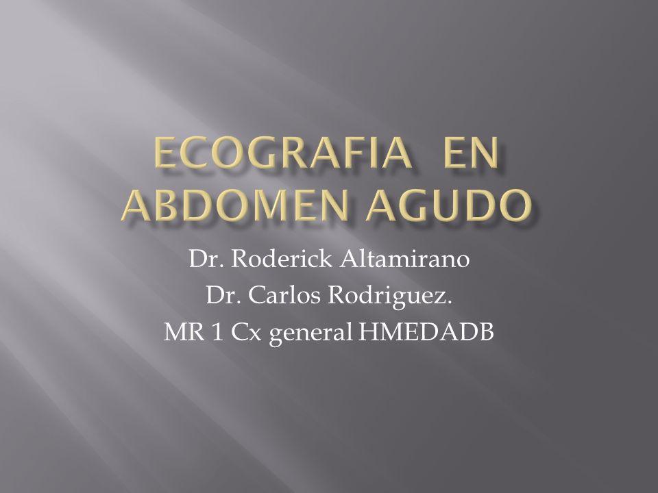 Dr. Roderick Altamirano Dr. Carlos Rodriguez. MR 1 Cx general HMEDADB