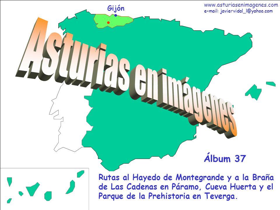 1 Asturias - Álbum 16 Gijón Rutas al Hayedo de Montegrande y a la Braña de Las Cadenas en Páramo, Cueva Huerta y el Parque de la Prehistoria en Teverg