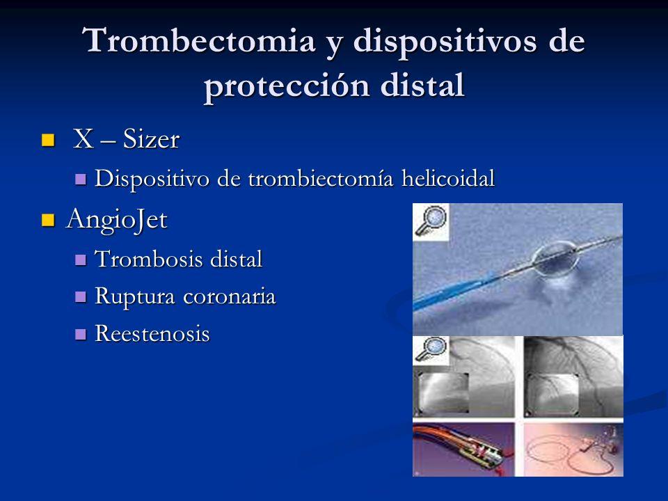 Trombectomia y dispositivos de protección distal X – Sizer X – Sizer Dispositivo de trombiectomía helicoidal Dispositivo de trombiectomía helicoidal A