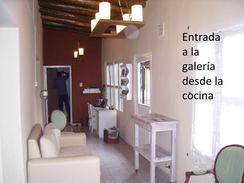 Entrada a la galería desde la cocina