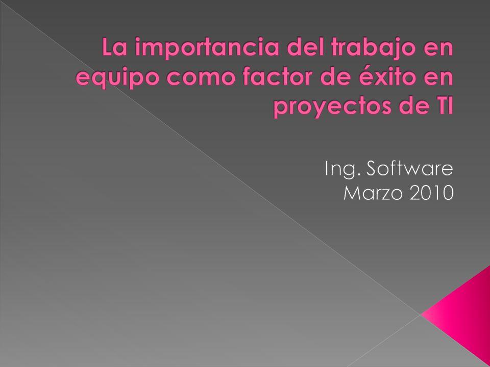 En nuestra naturaleza como desarrolladores de software es muy importante tener en cuenta el valor de desarrollar en equipo.