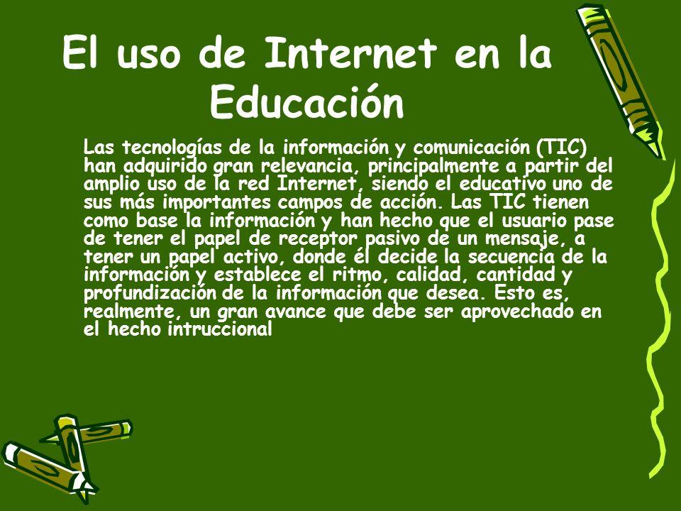 Internet Es indudable el uso, cada vez mayor, de Internet en la sociedad actual. Es sin duda, la tecnología más moderna del siglo XX, al promover un i