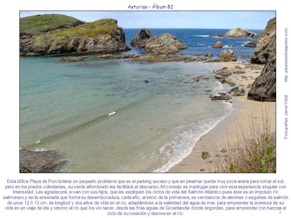 3 Asturias - Álbum 82 Fotografías: Javier Vidal http: asturiasenimagenes.com Esta idílica Playa de Porcía tiene un pequeño problema que es el parking
