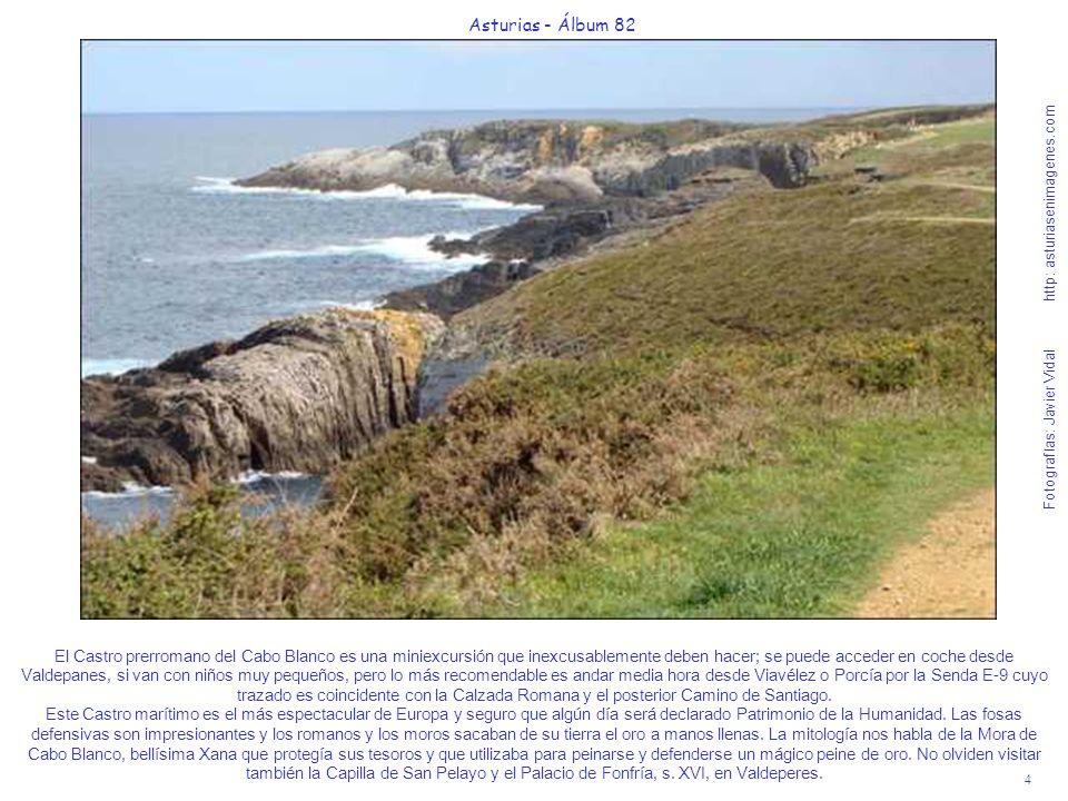 4 Asturias - Álbum 82 Fotografías: Javier Vidal http: asturiasenimagenes.com El Castro prerromano del Cabo Blanco es una miniexcursión que inexcusable
