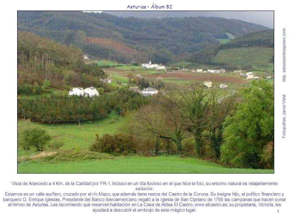 7 Asturias - Álbum 82 Fotografías: Javier Vidal http: asturiasenimagenes.com Nada más llegar al inicio de la aldea de Arancedo verán el desvío hacia las Cuevas de Andía que son Monumento Natural.