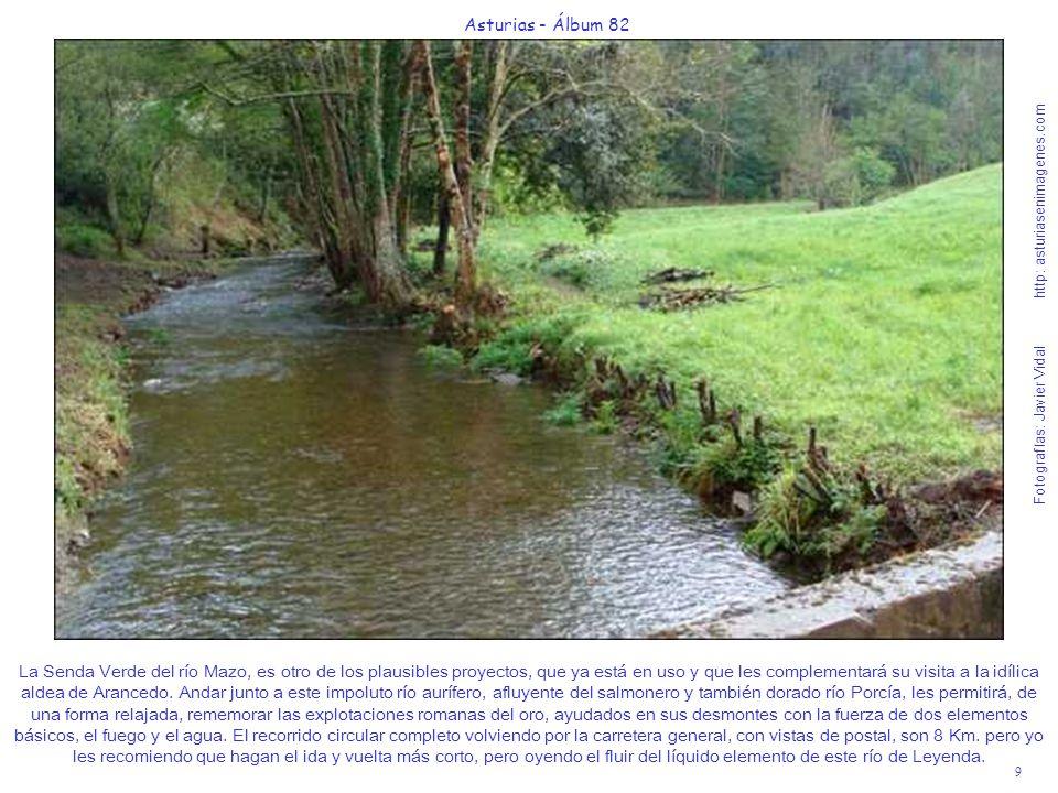 9 Asturias - Álbum 82 Fotografías: Javier Vidal http: asturiasenimagenes.com La Senda Verde del río Mazo, es otro de los plausibles proyectos, que ya