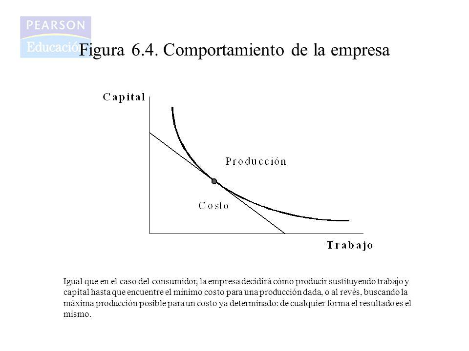 Figura 6.4. Comportamiento de la empresa Igual que en el caso del consumidor, la empresa decidirá cómo producir sustituyendo trabajo y capital hasta q