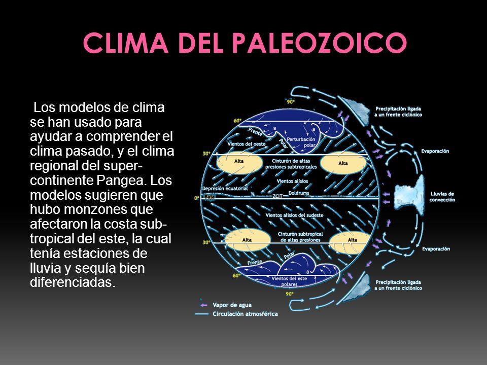 Los modelos de clima se han usado para ayudar a comprender el clima pasado, y el clima regional del super- continente Pangea. Los modelos sugieren que