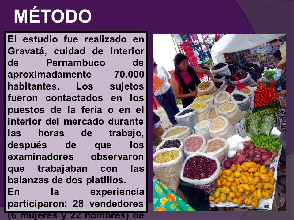 MÉTODO El estudio fue realizado en Gravatá, cuidad de interior de Pernambuco de aproximadamente 70.000 habitantes. Los sujetos fueron contactados en l