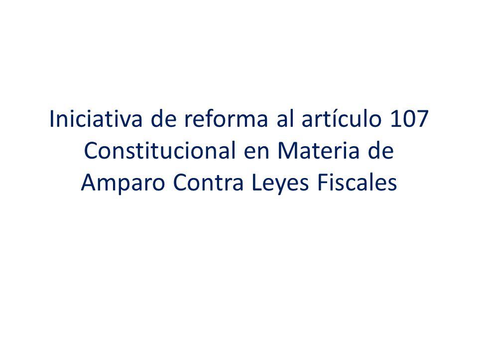 – No obstante, debe quedar completamente claro que esta iniciativa de ninguna manera pretende desconocer las garantías individuales en materia tributaria, sino que pretende renovar la vía procesal para hacerlos valer de manera más efectiva para todos los mexicanos.