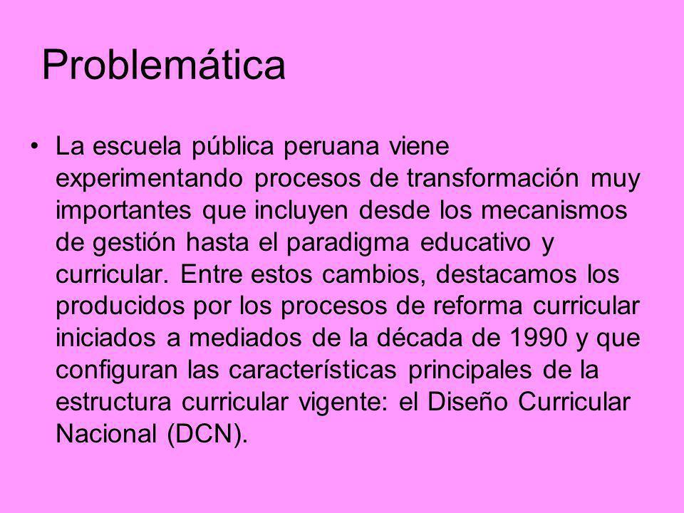 La escuela pública peruana viene experimentando procesos de transformación muy importantes que incluyen desde los mecanismos de gestión hasta el parad