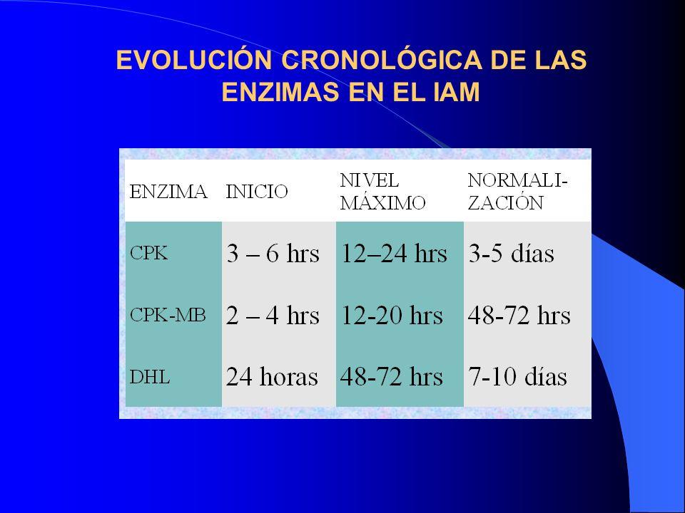 EVOLUCIÓN CRONOLÓGICA DE LAS ENZIMAS EN EL IAM