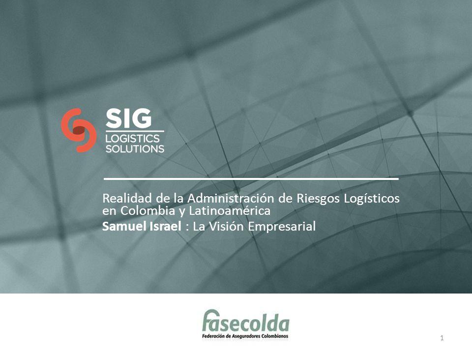 Realidad de la Administración de Riesgos Logísticos en Colombia y Latinoamérica Samuel Israel : La Visión Empresarial 1