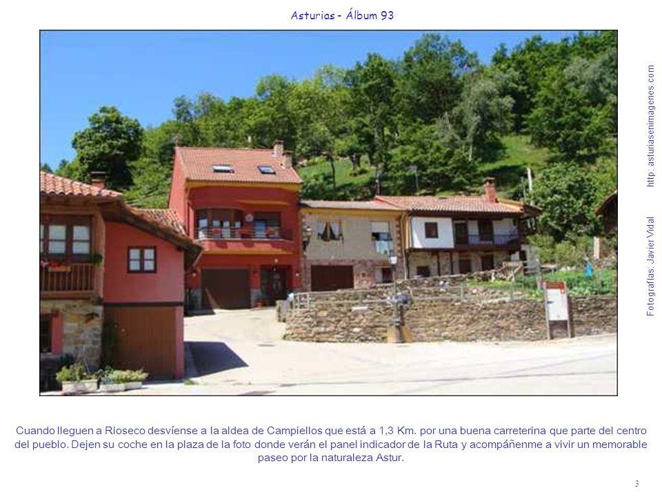 3 Asturias - Álbum 93 Fotografías: Javier Vidal http: asturiasenimagenes.com Cuando lleguen a Rioseco desvíense a la aldea de Campiellos que está a 1,3 Km.