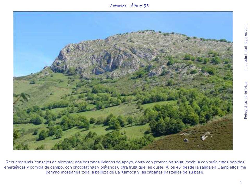 6 Asturias - Álbum 93 Fotografías: Javier Vidal http: asturiasenimagenes.com Recuerden mis consejos de siempre; dos bastones livianos de apoyo, gorra