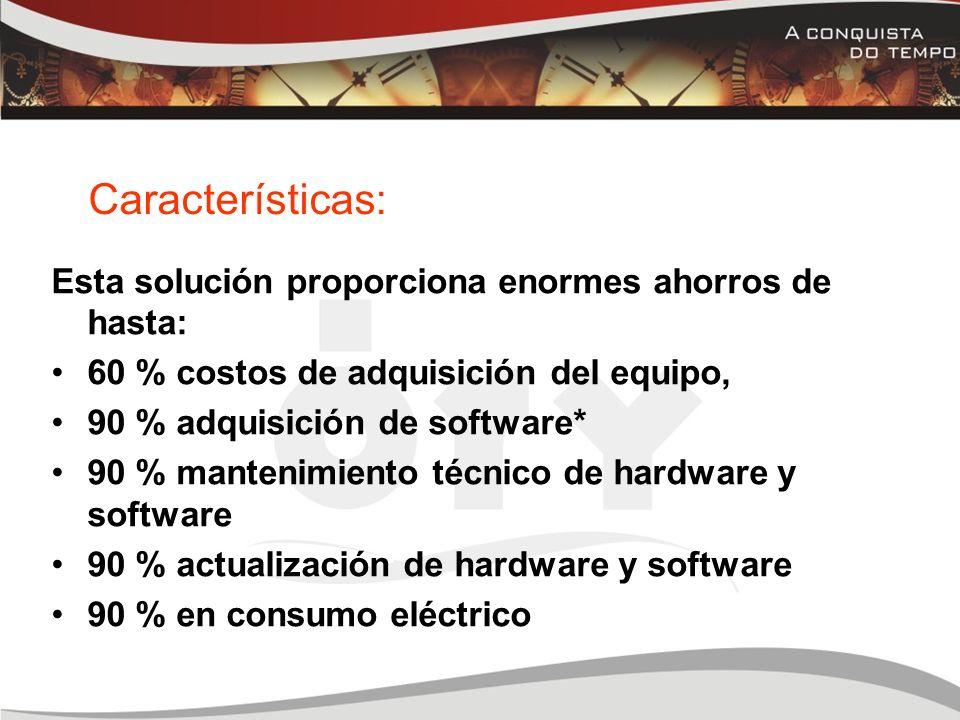PC TRADICIONALPc Expanion Fácil de transportar, cada terminal puede accesar la PC Host vía internet desde Cualquier parte del mundo.