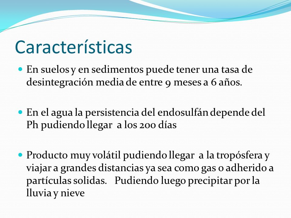 Acerca de la toxicidad Siendo extremadamente tóxico para peces, posee como restricción la no aplicación en las cercanías de cursos de agua.