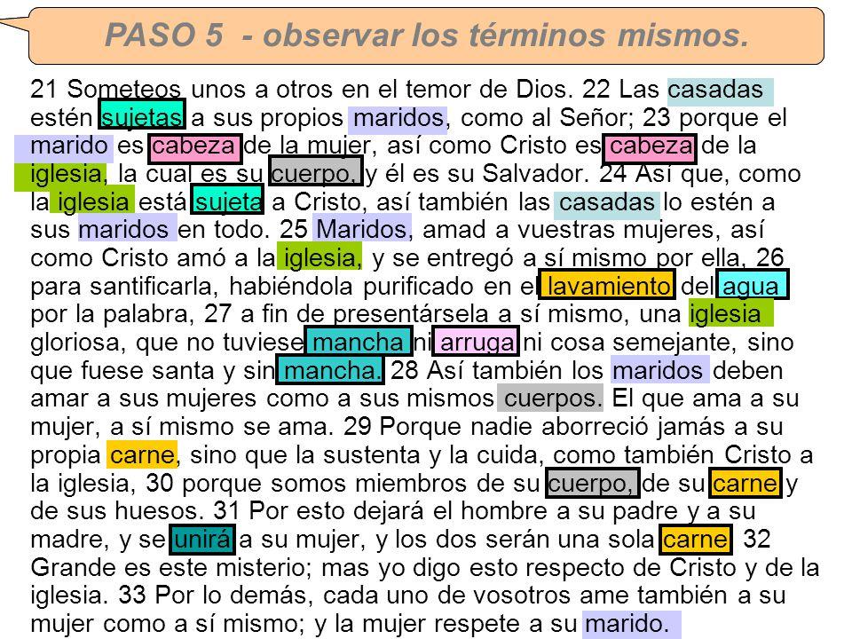 CORRECCION DE TAREA #3 – Efesios 5:21-33 21 Someteos unos a otros en el temor de Dios. 22 Las casadas estén sujetas a sus propios maridos, como al Señ