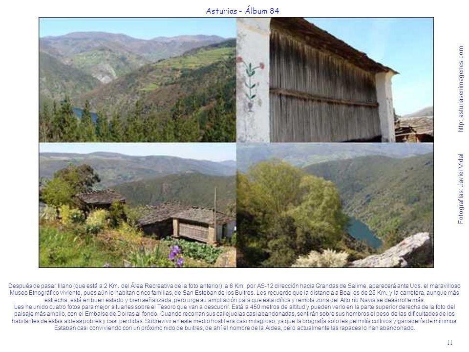 11 Asturias - Álbum 84 Fotografías: Javier Vidal http: asturiasenimagenes.com Después de pasar Illano (que está a 2 Km.