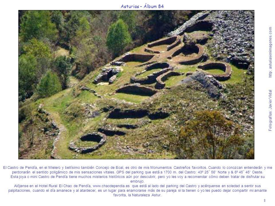 8 Asturias - Álbum 84 Fotografías: Javier Vidal http: asturiasenimagenes.com El Castro de Pendía, en el Mielero y bellísimo también Concejo de Boal, es otro de mis Monumentos Castreños favoritos.