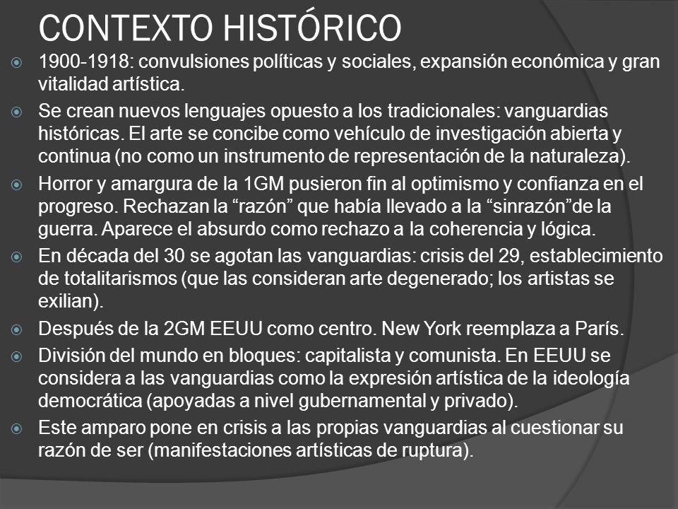 Vanguardia Se aplica en Francia al campo del arte antes de la 1GM, para designar determinados movimientos plásticos y literarios que luchaban contra las normas academicistas.