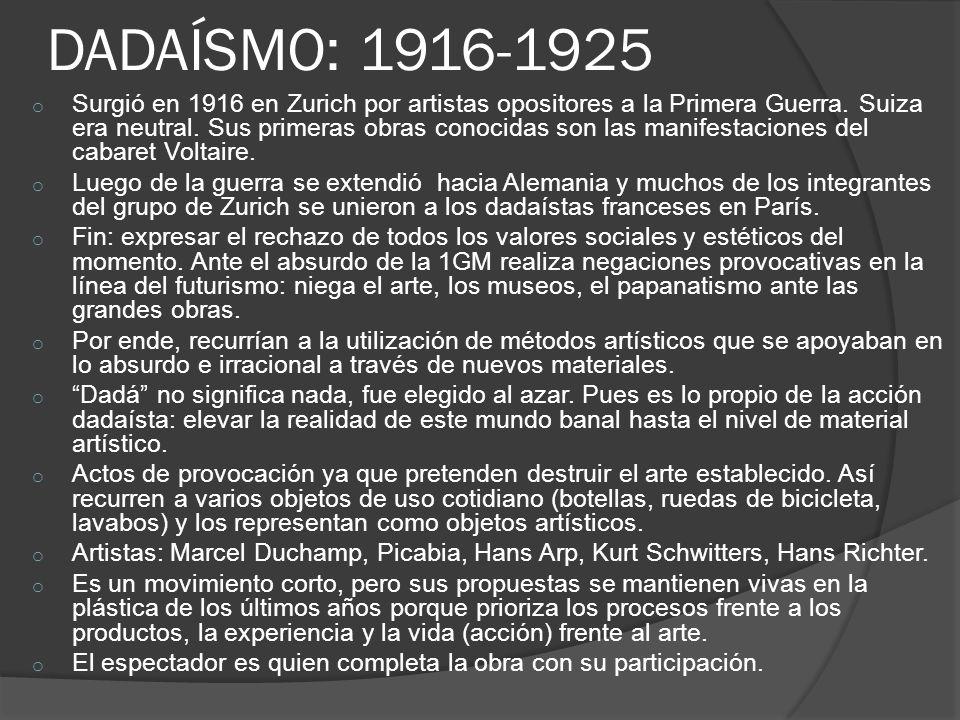 Marcel Duchamp, La fuente, 1917.Ready-made.