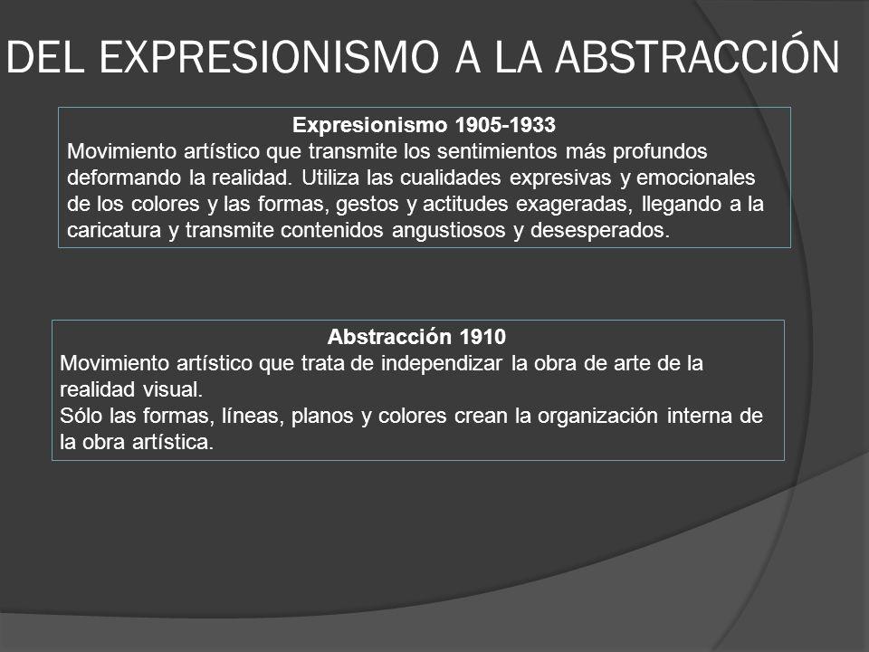 ARTE ABSTRACTO En 1910 un grupo de artistas representados por el pintor ruso Wassily Kandinsky se unieron con la finalidad de proponer cambios en relación con una nueva pintura en la que no existiera ninguna representación figurativa, sino formas y colores.