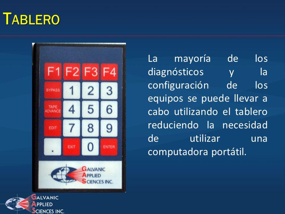 T ABLERO La mayoría de los diagnósticos y la configuración de los equipos se puede llevar a cabo utilizando el tablero reduciendo la necesidad de util