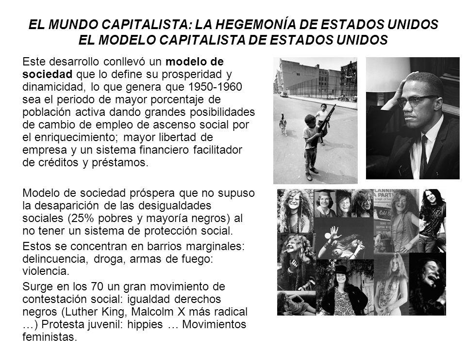 EL MUNDO CAPITALISTA: LA HEGEMONÍA DE ESTADOS UNIDOS LA DEMOCRACIA LIBERAL EN ESTADOS UNIDOS Sistema modelo para la democracia capitalista.