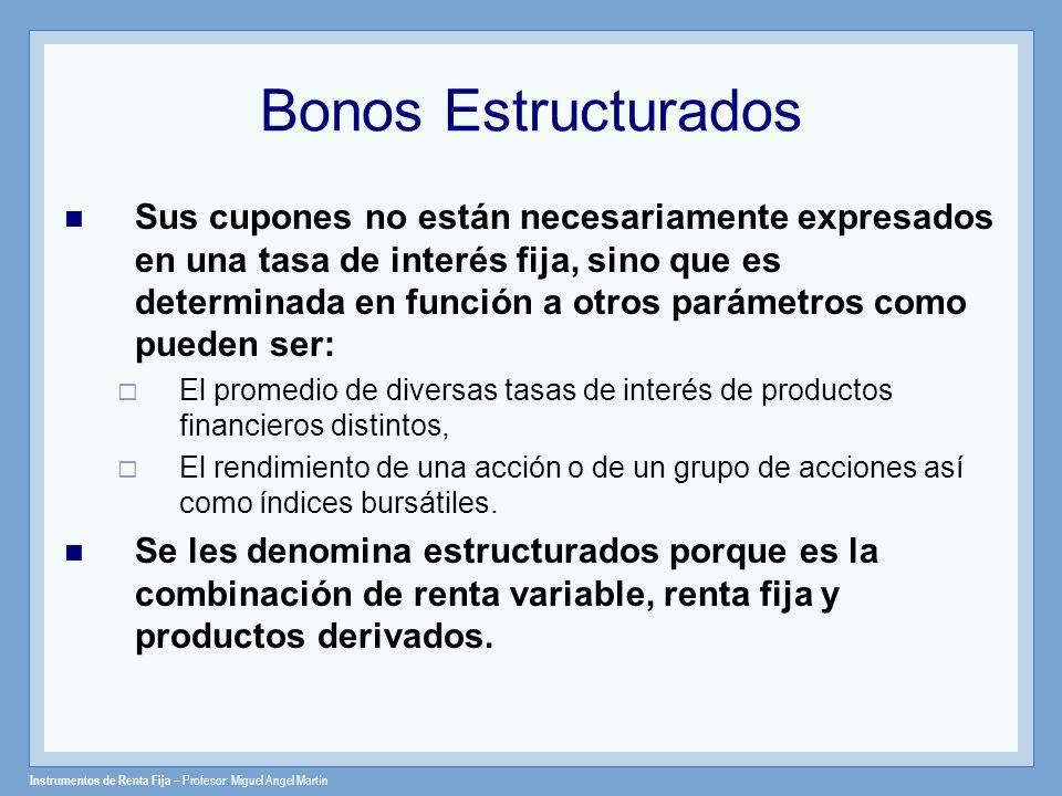 Instrumentos de Renta Fija – Profesor: Miguel Angel Martín Tombstone: Exchangeable Debenture