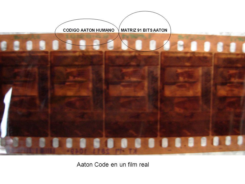 MATRIZ 91 BITS AATONCODIGO AATON HUMANO Aaton Code en un film real