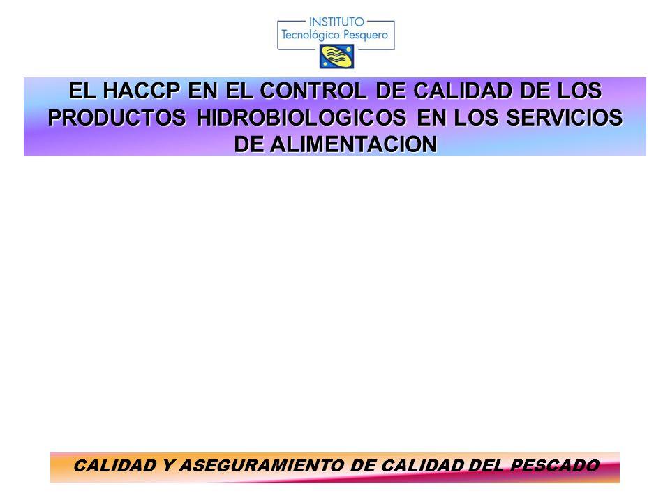 EL HACCP EN EL CONTROL DE CALIDAD DE LOS PRODUCTOS HIDROBIOLOGICOS EN LOS SERVICIOS DE ALIMENTACION CALIDAD Y ASEGURAMIENTO DE CALIDAD DEL PESCADO