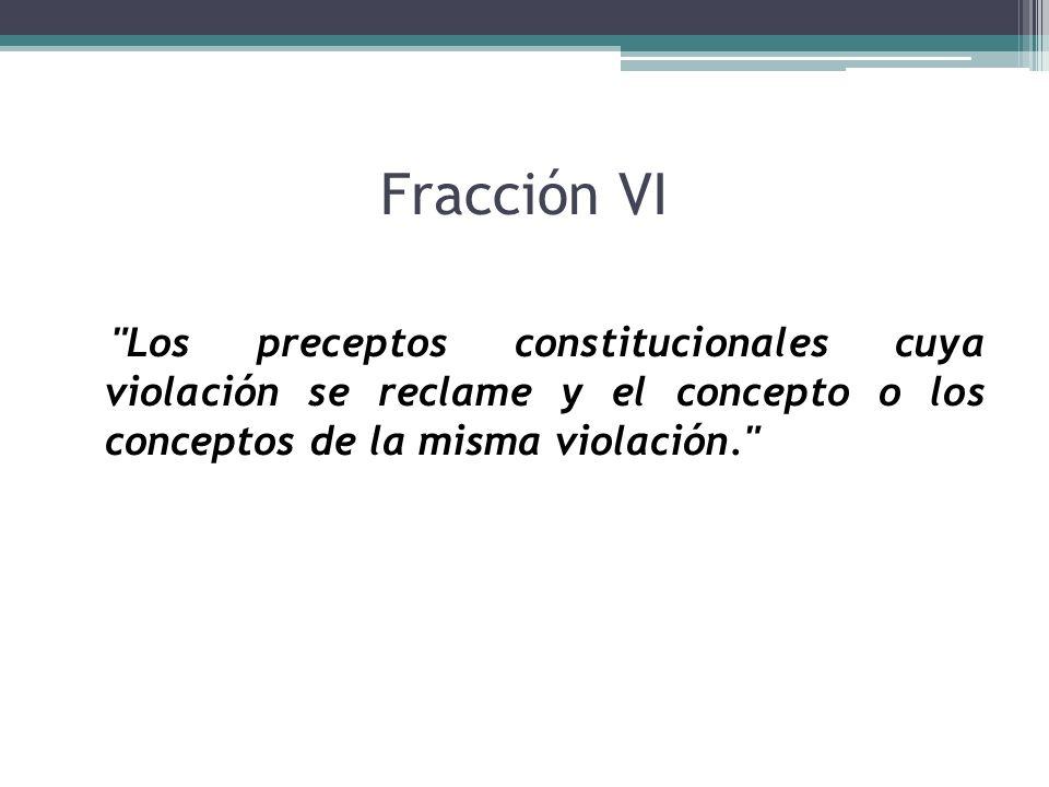 Fracción VI