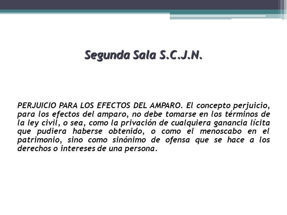 Segunda Sala S.C.J.N. PERJUICIO PARA LOS EFECTOS DEL AMPARO. El concepto perjuicio, para los efectos del amparo, no debe tomarse en los términos de la