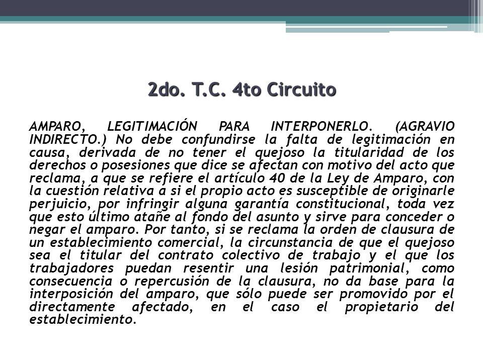 2do. T.C. 4to Circuito AMPARO, LEGITIMACIÓN PARA INTERPONERLO. (AGRAVIO INDIRECTO.) No debe confundirse la falta de legitimación en causa, derivada de