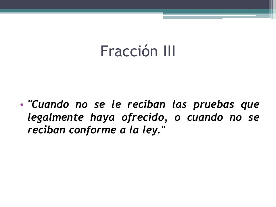 Fracción III