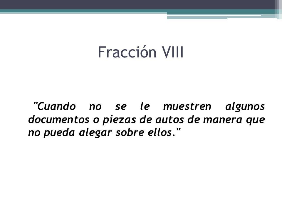 Fracción VIII