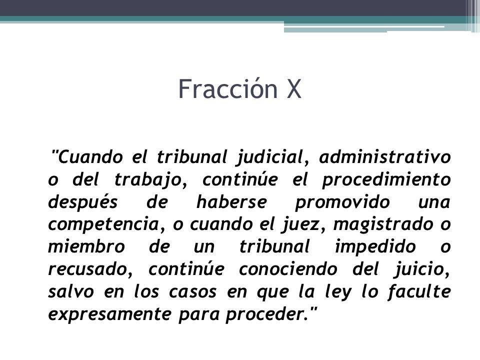 Fracción X