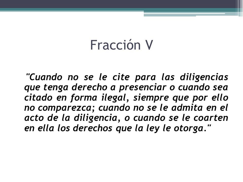 Fracción V
