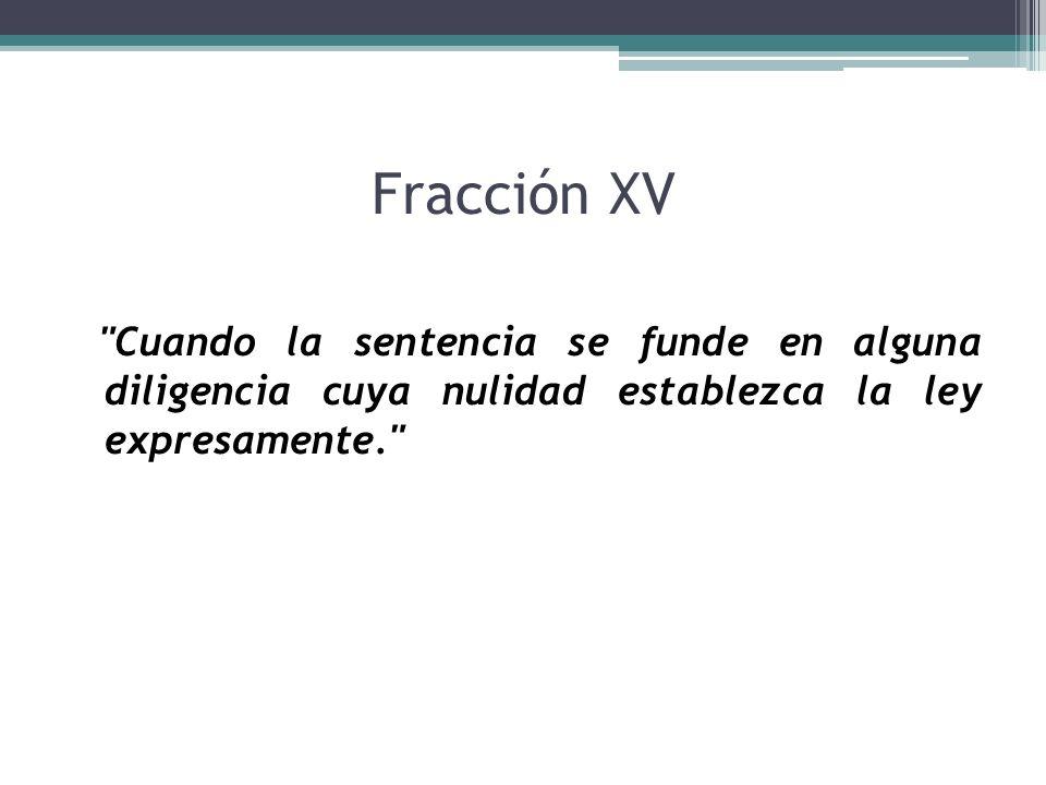 Fracción XV