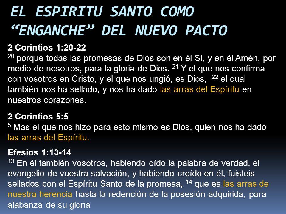 2 Corintios 1:20-22 20 porque todas las promesas de Dios son en él Sí, y en él Amén, por medio de nosotros, para la gloria de Dios. 21 Y el que nos co