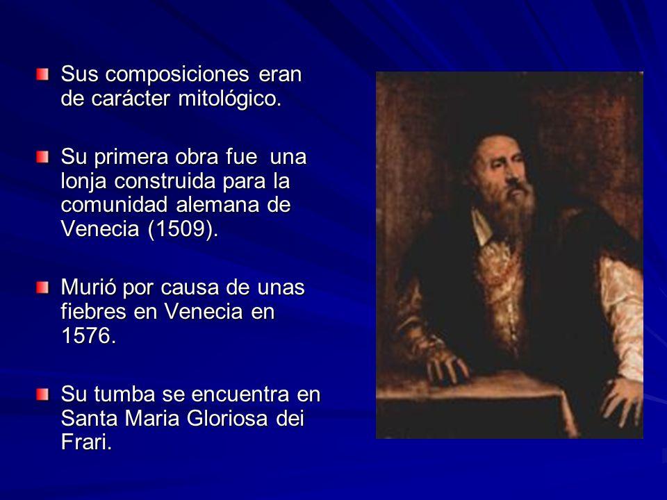 Sus composiciones eran de carácter mitológico. Su primera obra fue una lonja construida para la comunidad alemana de Venecia (1509). Murió por causa d