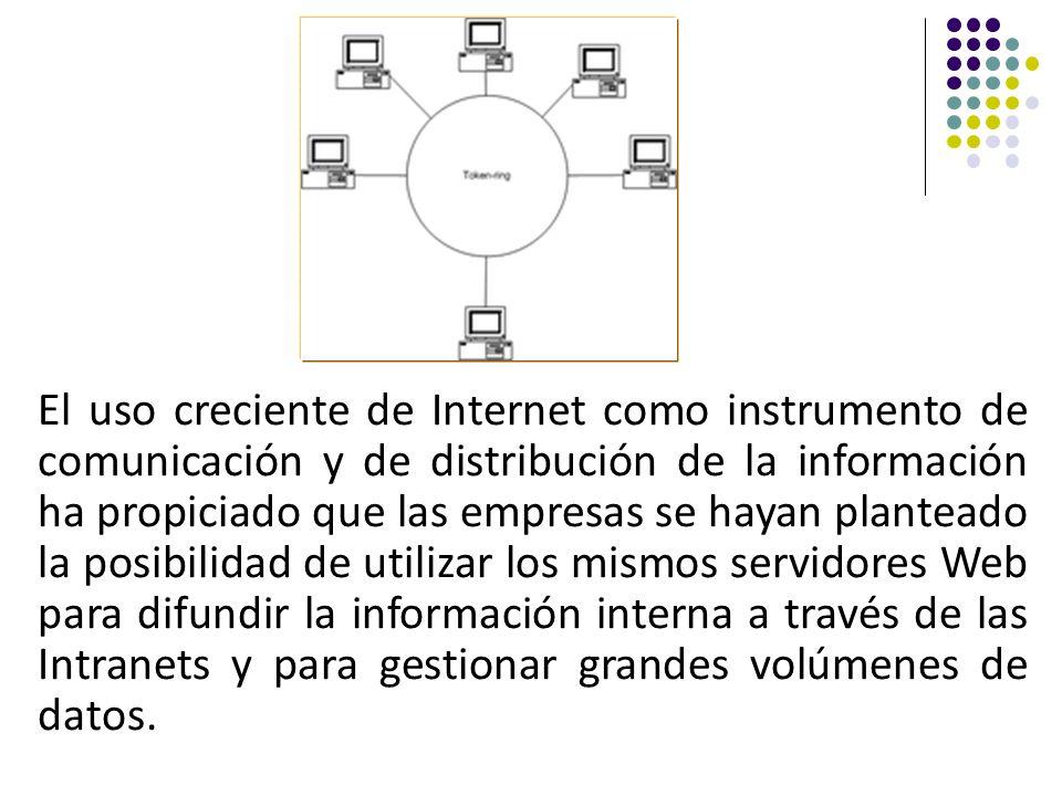 El uso creciente de Internet como instrumento de comunicación y de distribución de la información ha propiciado que las empresas se hayan planteado la